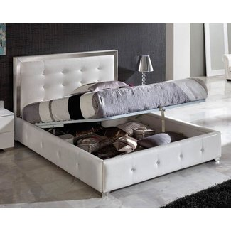 Platform bed leather headboard