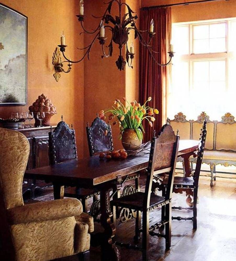Attirant Dining Chair In Spanish Colonial Style. This Element Of Furniture Is Based  On A Durable Wooden Construction With Carved Details For More Decorative ...