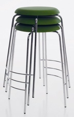 Stackable metal stools