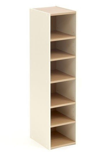 Storage Cupboard Tower Open Cream Beech 6 Shelf Narrow Tall. Narrow Shoe  Storage 3