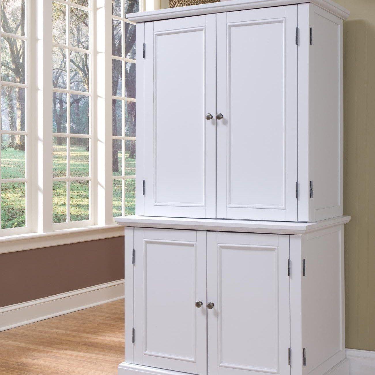 White Computer Armoire