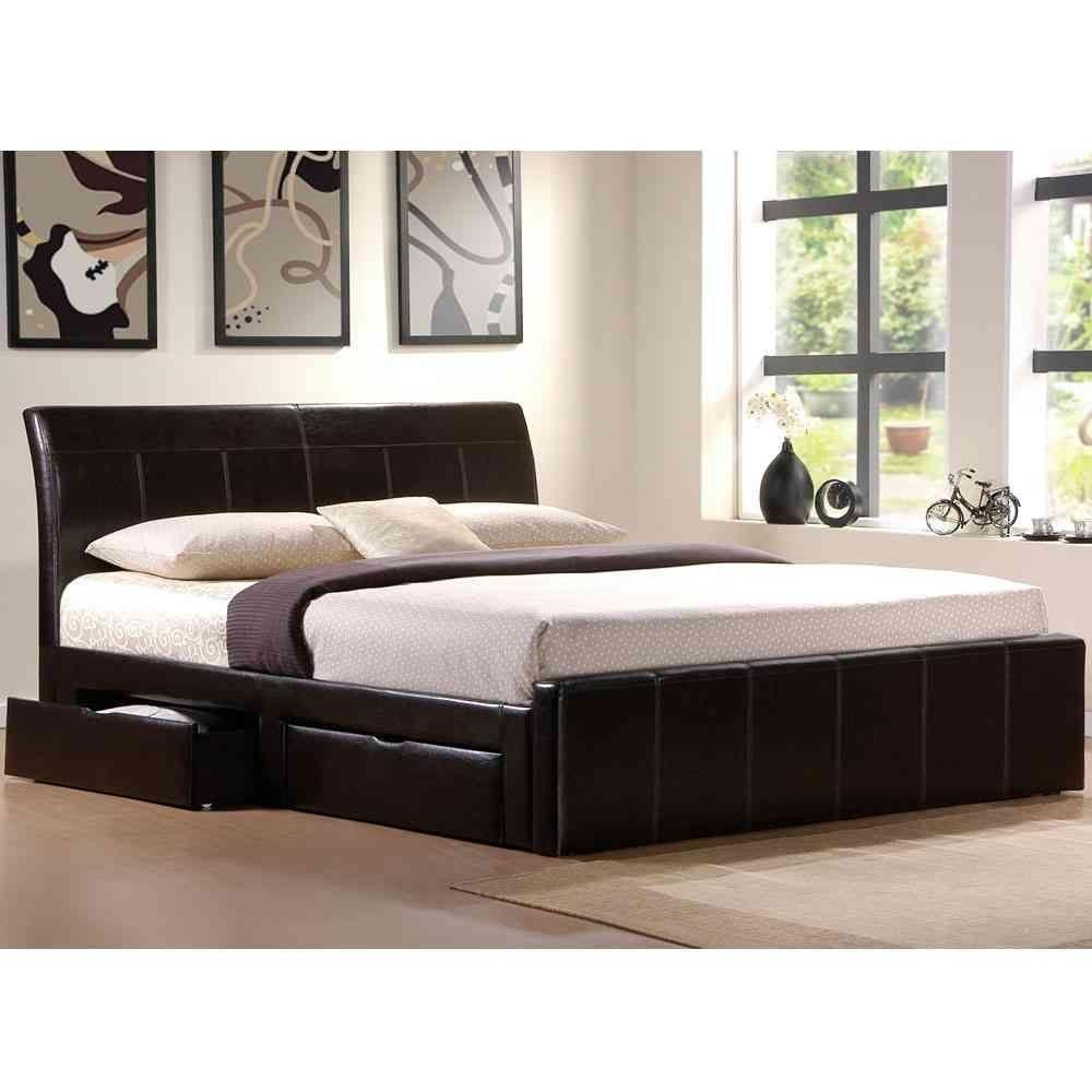 White storage platform bed. Leather ...  sc 1 st  Foter & Leather Platform Bed With Storage - Foter