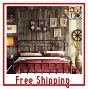 Wrought Iron Style Metal Bed Frame Queen Headboard And Footboard