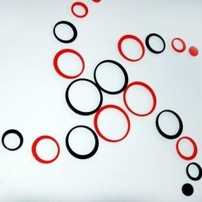 3d design wall decor 10 circles wall decal sticker free