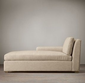 Belgian petite roll arm upholstered left arm chaise