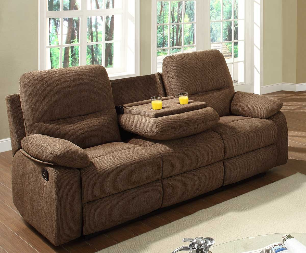 Charmant Reclining Loveseat With Console Cup Holders   Foter