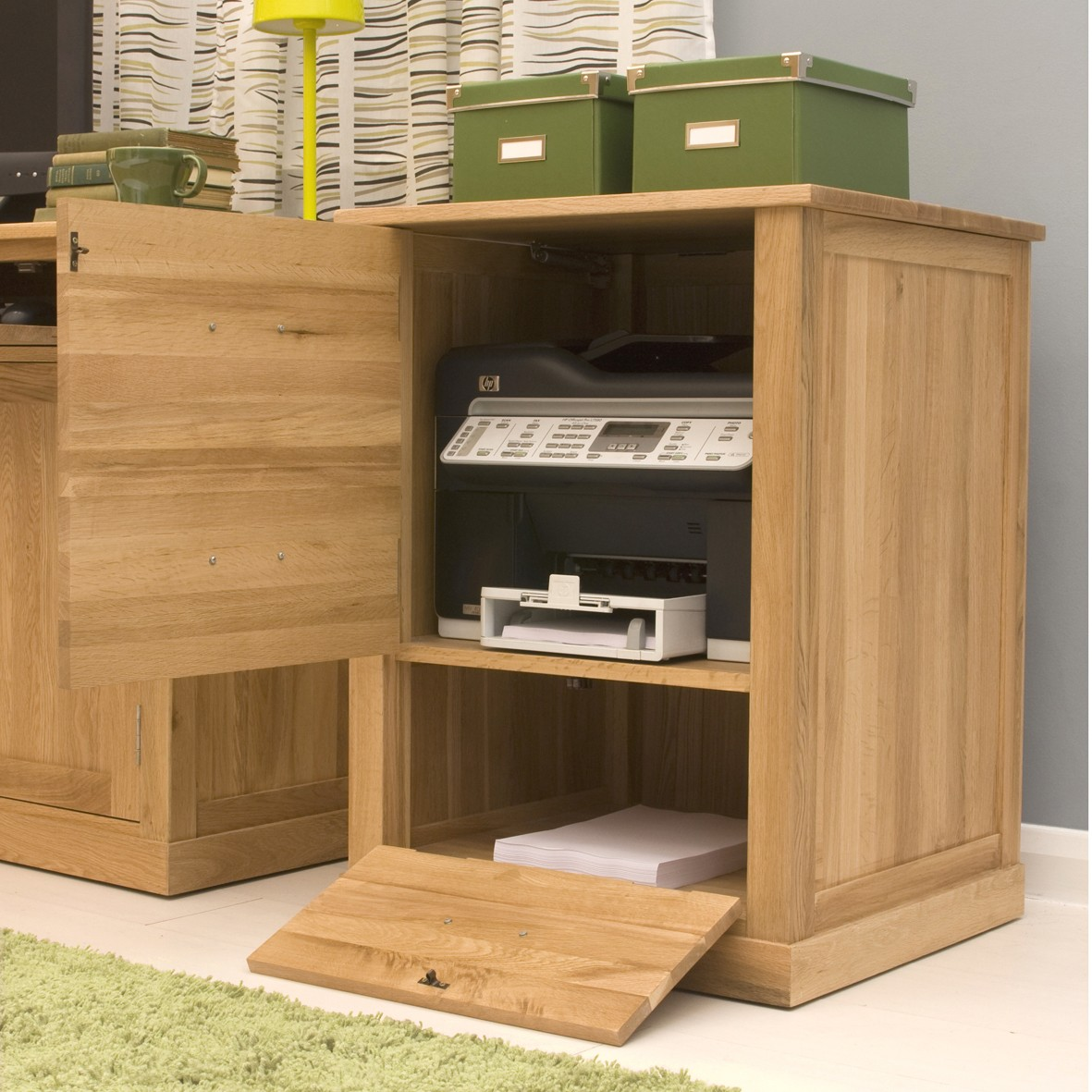 Oak Furniture Printer Cabinet Contemporary Office Furniture