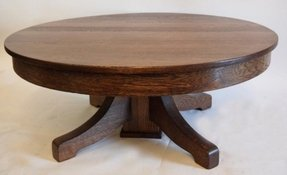 Oak round coffee table 3