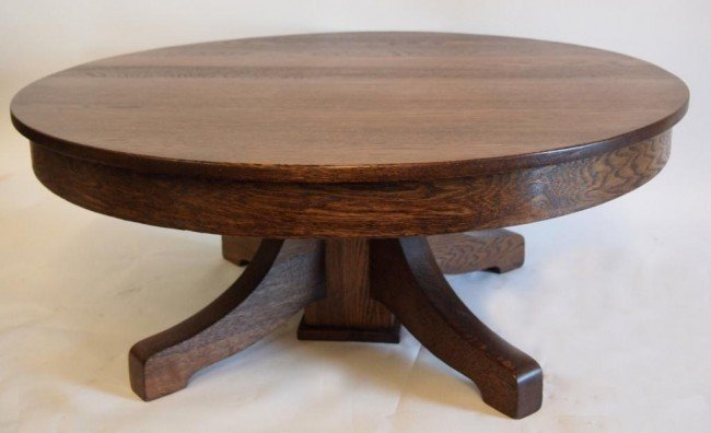 Beau Oak Round Coffee Table 3