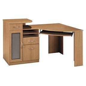corner desks with hutch for home office foter. Black Bedroom Furniture Sets. Home Design Ideas