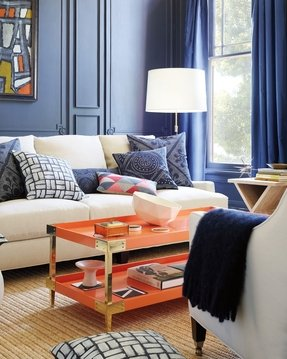 Orange coffee tables