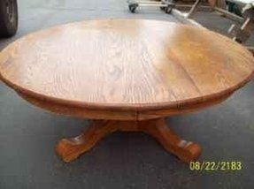 Round oak coffee table just in amazing finds redding for