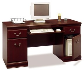 Small computer desk with drawers 2