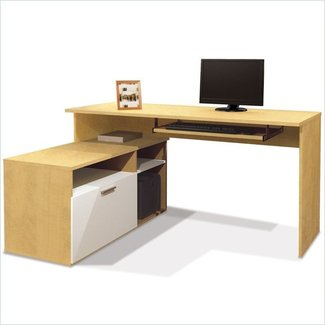 Small computer desk with drawers 3