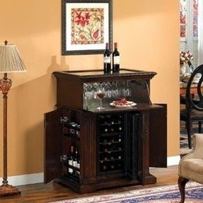Wine cooler bar cabinet