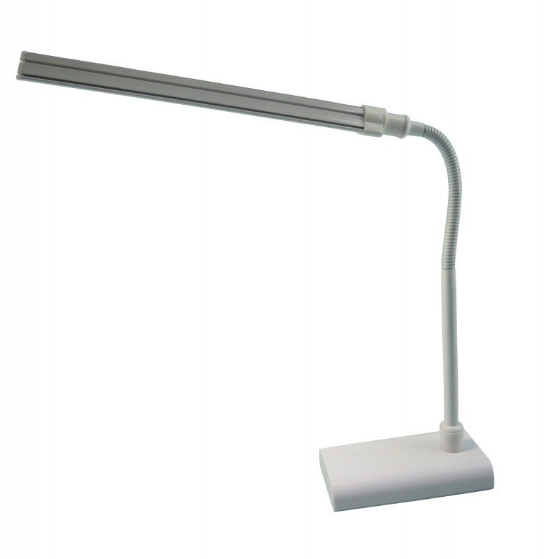 "16"" LED Desk Table Lamp with Adjustable Gooseneck"