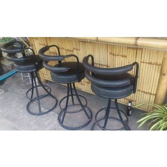 Bar stools sink unit tables and chairs