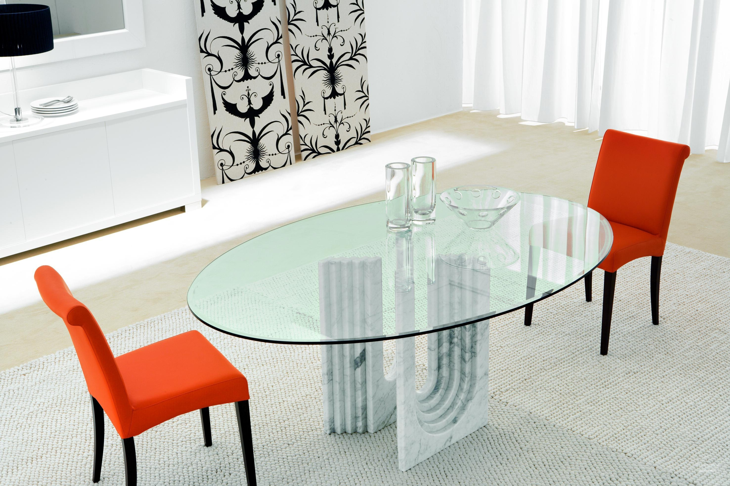 Nice Glass Oval Dining Table