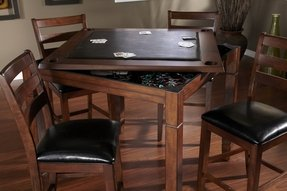 Heritage rosa poker card table counter height dining table game
