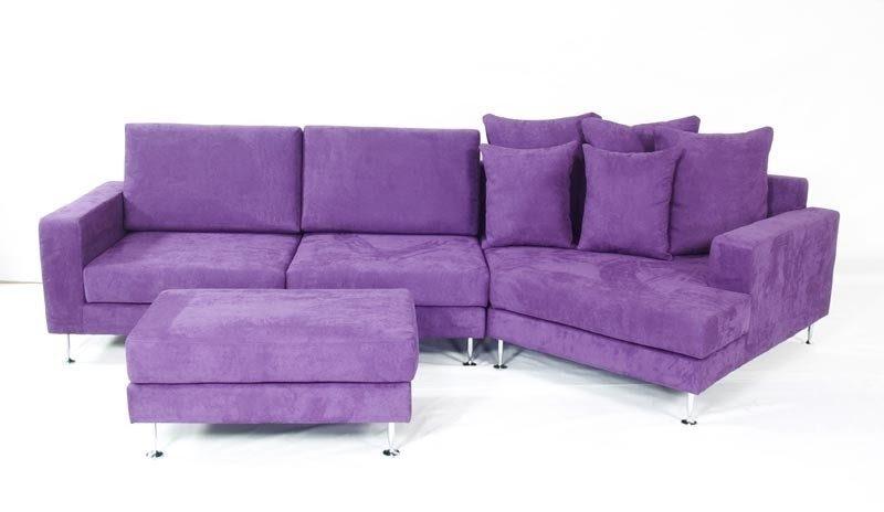 Purple Leather Sofas