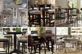 Round pub table set & Round Pub Table Set - Foter