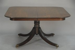 Square Pedestal Dining Table 1