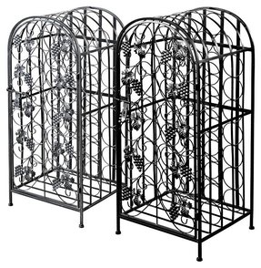 Wrought iron small wine rack 1