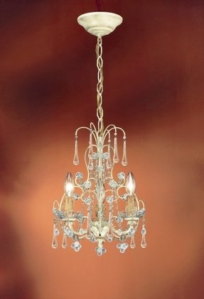 Shabby chic candle chandelier foter ella 3 light mini candle chandelier aloadofball Gallery