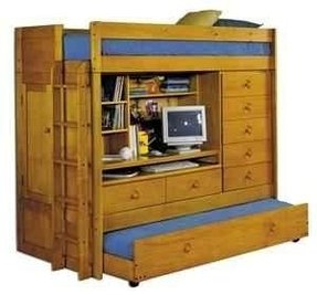 Loft Bed With Desk And Trundle Ideas On Foter