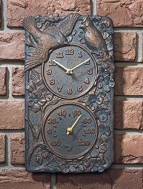 Decorative Outdoor Clock And Thermometer Set Foter