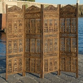 Panel indian hand carved wooden screen room divider k free