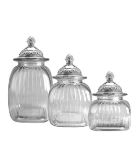 clear glass canisters for kitchen glass kitchen canister sets foter 23312