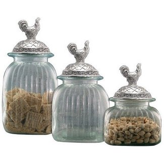 Vintage glass canisters kitchen