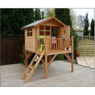 Wood outdoor playhouse