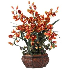 Artificial florals silk arrangements large cymbidium silk flower