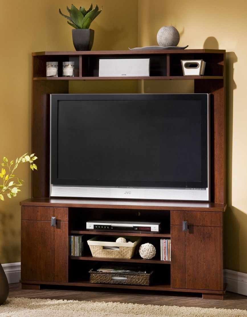 Corner Tv Stand Designs : Shop the gray barn elsinora multi shelf corner tv stand in grey
