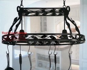 kitchen island hanging pot racks kitchen island pot rack lighting foter 8181