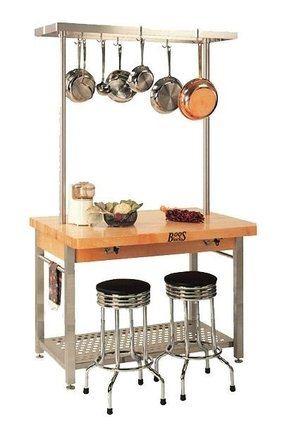 Kitchen Island Pot Rack - Ideas on Foter