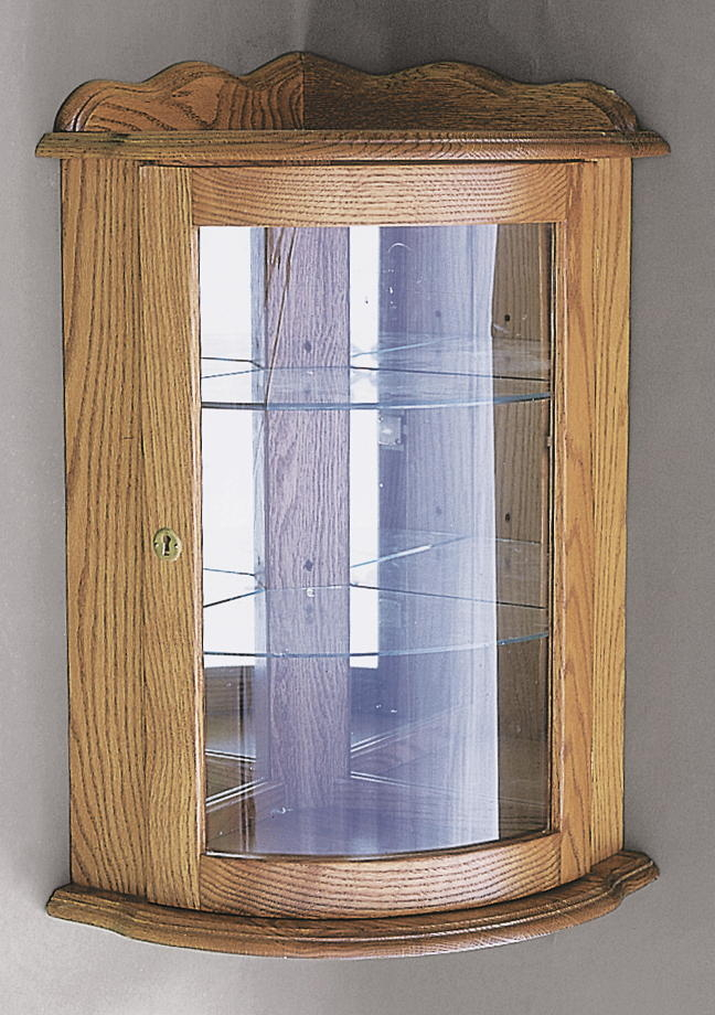 Hanging Corner Wall Curio Cabinet