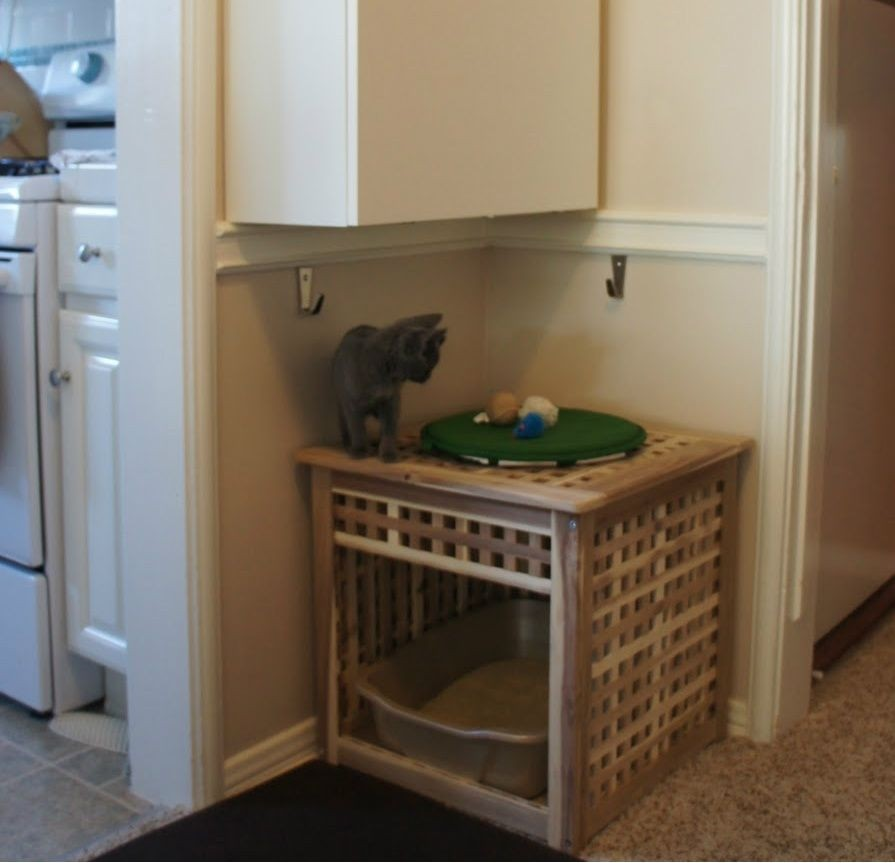 Hidden Cat Litter Box Furniture 3