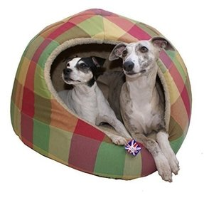 Hooded pyramid dog bed large for medium dogs or room