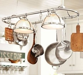 Kitchen Island Pot Rack Lighting Ideas On Foter