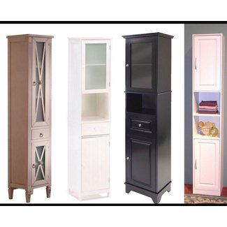 Narrow cabinets with doors