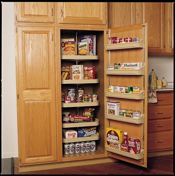 Ordinaire Oak Pantry Storage Cabinet 1