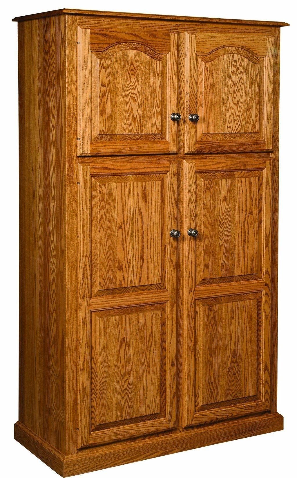 Captivating Oak Pantry Storage Cabinet 5
