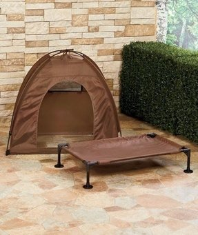 Pet bed and tent set for cats or large dogs