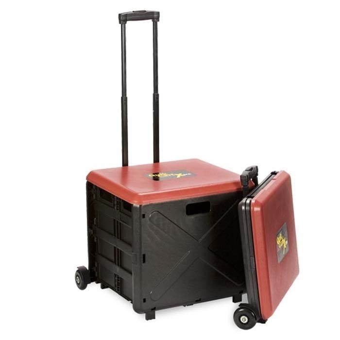 Quik Cart Xtra Wheeled Storage Tote. Rolling Tote Cart