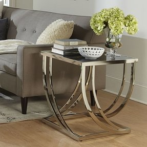 Glass Top End Tables Metal - Ideas on Foter