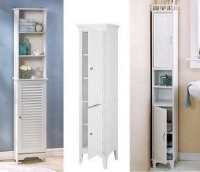 Tall Thin Armoire These Narrow Bathroom Cabinets