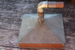 Vintage large industrial brass copper shower head deco